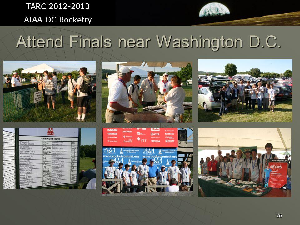 26 Attend Finals near Washington D.C. TARC 2012-2013 AIAA OC Rocketry