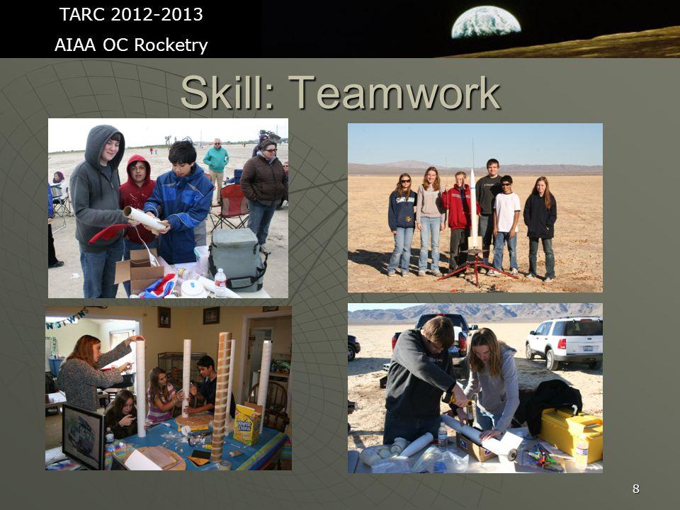 8 Skill: Teamwork TARC 2012-2013 AIAA OC Rocketry