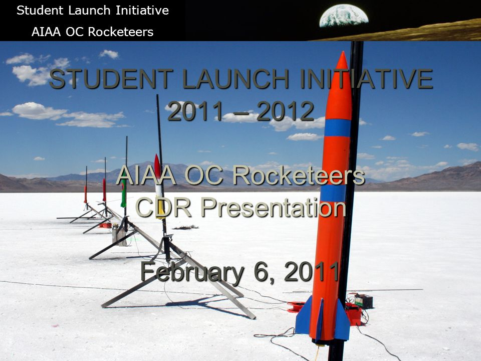 UAV Payload System 22 Student Launch Initiative AIAA OC Rocketeers The UAV System consists of 2.4 GHz RC Control via Spektrum DX-7 900 MHz telemetry link using X-Bee for Altitude via barometric pressure Speed via pitot tube and pressure sensor Artificial horizon via 3 axis magnetometer 1.2 GHz Video downlink Video data converted to USB for interface similar to web cam Note: Rocket also uses two separate GPS transmitters for tracking