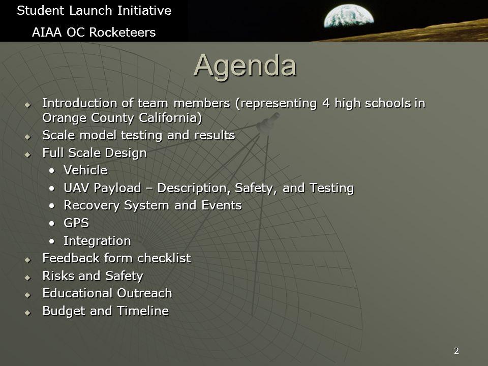 Budget - Expenditures 53 Student Launch Initiative AIAA OC Rocketeers