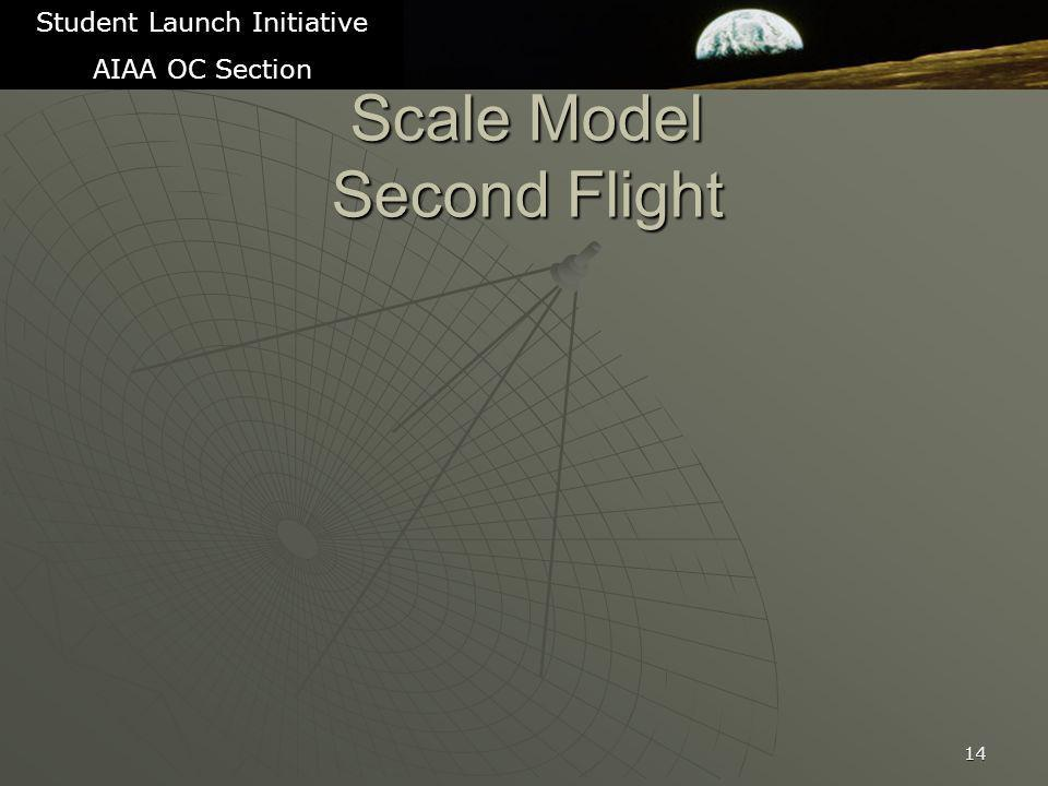 Scale Model Second Flight 14 Student Launch Initiative AIAA OC Section