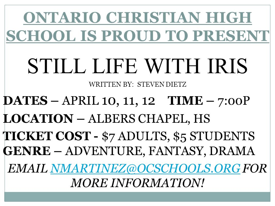Ontario Christian High School Now You Are A Knight!