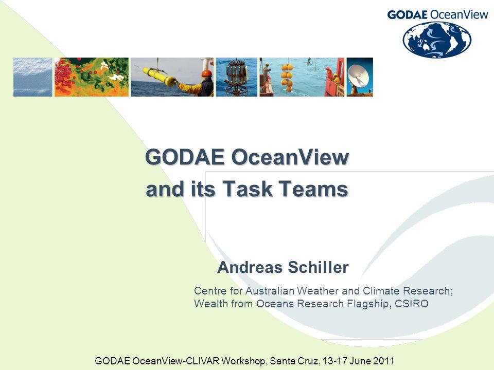 GODAE OceanView-CLIVAR Workshop, Santa Cruz, 13-17 June 2011 OMAPS(fc) = Bluelink operational 3-4-d forecasts OMAPS(ban) = Bluelink operational hindcast (6-9-d behind RT) HYCOM = US Navy hindcast (5-d behind RT) Mercator = French hindcast (7-14-d behind RT) UKMet = UK hindcast (~3-m behind RT) GODAE OceanViewIntercomparison GODAE OceanView Intercomparison