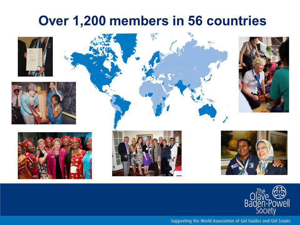 Over 1,200 members in 56 countries