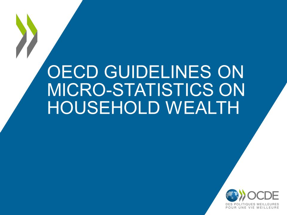  Key component of household economic resources, alongside income and consumption  Inequality in the distribution of household wealth is significantly higher than that for household income, and may evolve differently overtime  The distribution of household wealth may affect the vulnerability of the economy to various shocks, and the sustainability of economic development Why micro-statistics on household wealth are important.