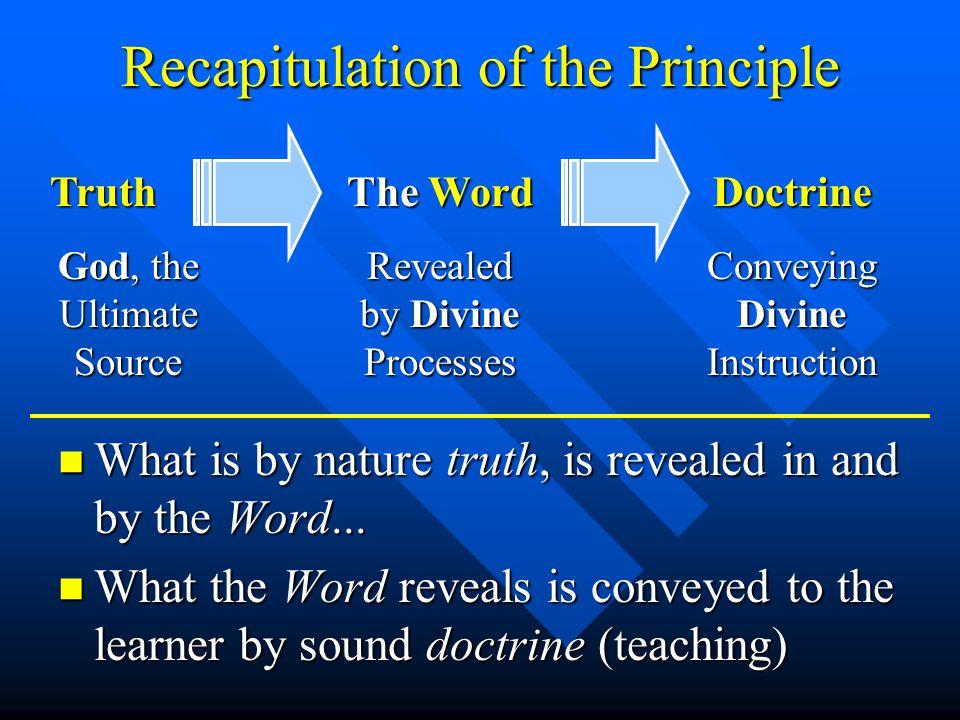 Doctrine In The Scriptures n Old Testament –What is taught - Deuteronomy 32:2 –What is heard - Isaiah 28:9b, cf.