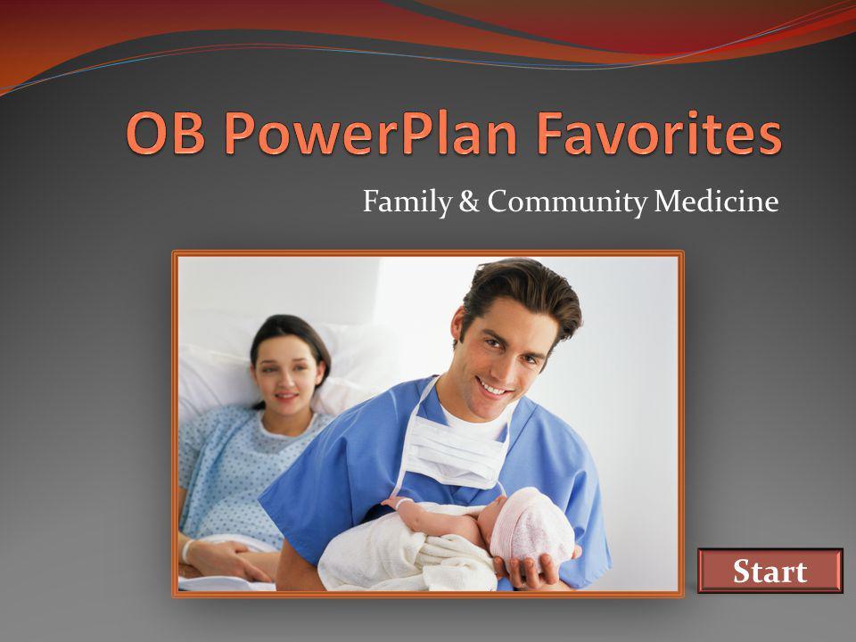 Family & Community Medicine Start