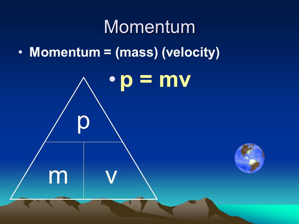 Momentum Momentum can be defined as