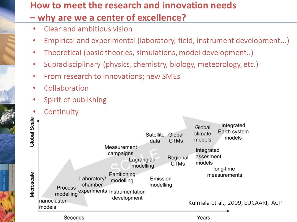 How to meet the research and innovation needs – why are we a center of excellence.