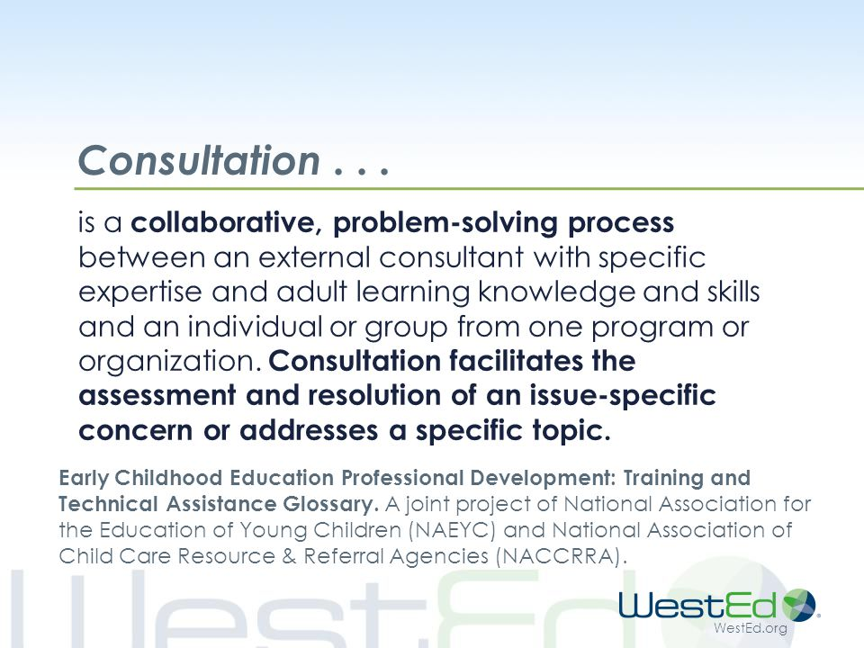 WestEd.org Consultation...