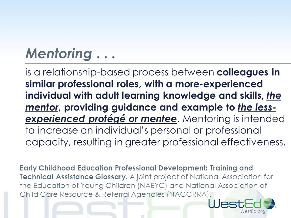 WestEd.org Mentoring...