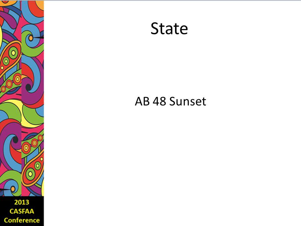 State AB 48 Sunset