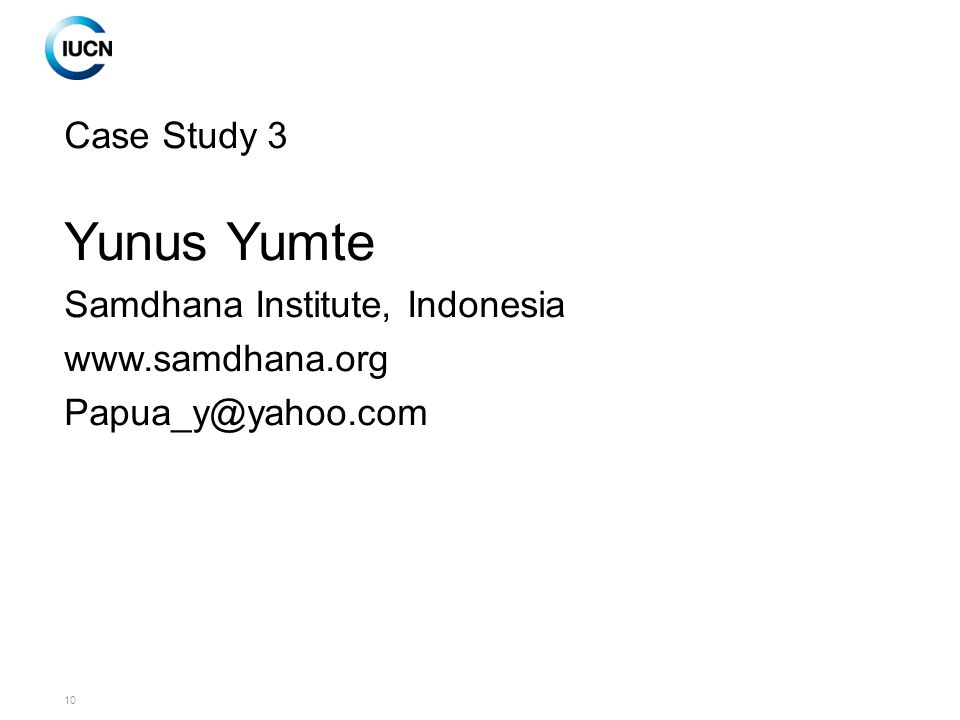 10 Case Study 3 Yunus Yumte Samdhana Institute, Indonesia