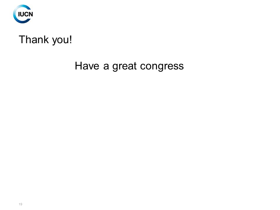 19 Thank you! Have a great congress