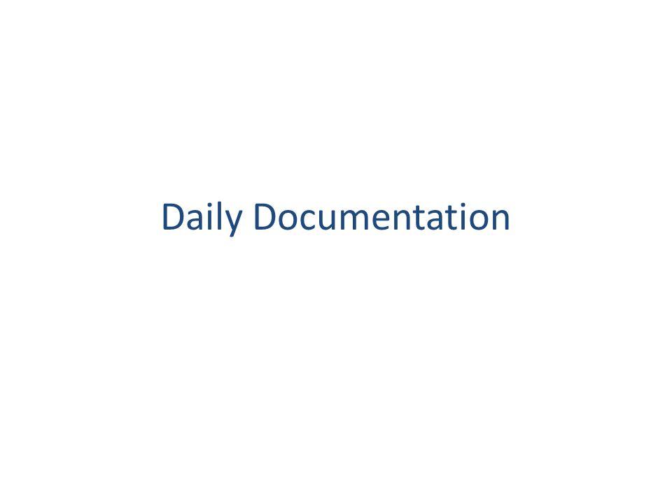 Daily Documentation