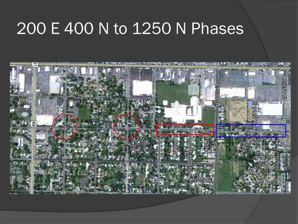 200 E 400 N to 1250 N Phases