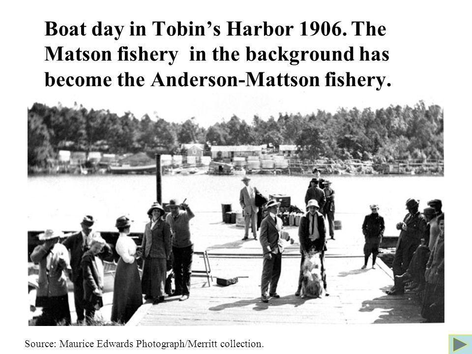 Boat day in Tobin's Harbor 1906.