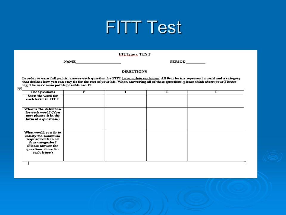FITT Test