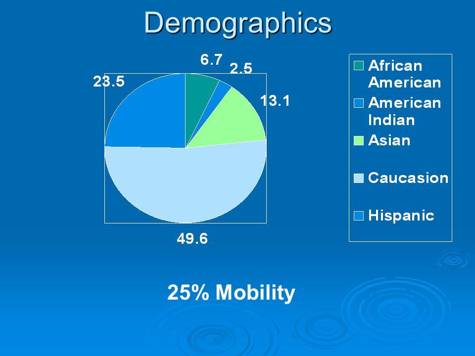 Demographics 25% Mobility