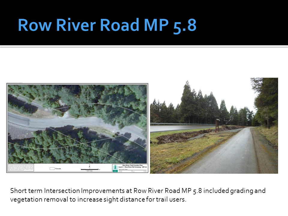 Short term Intersection Improvements at Row River Road MP 11.0