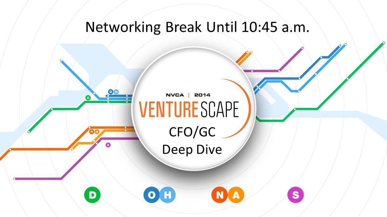 CFO/GC Deep Dive Networking Break Until 10:45 a.m.