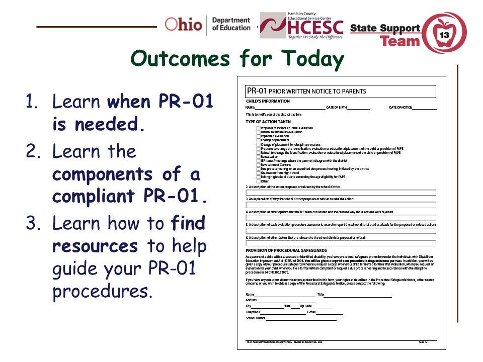 When to Provide Prior Written Notice PR-01?