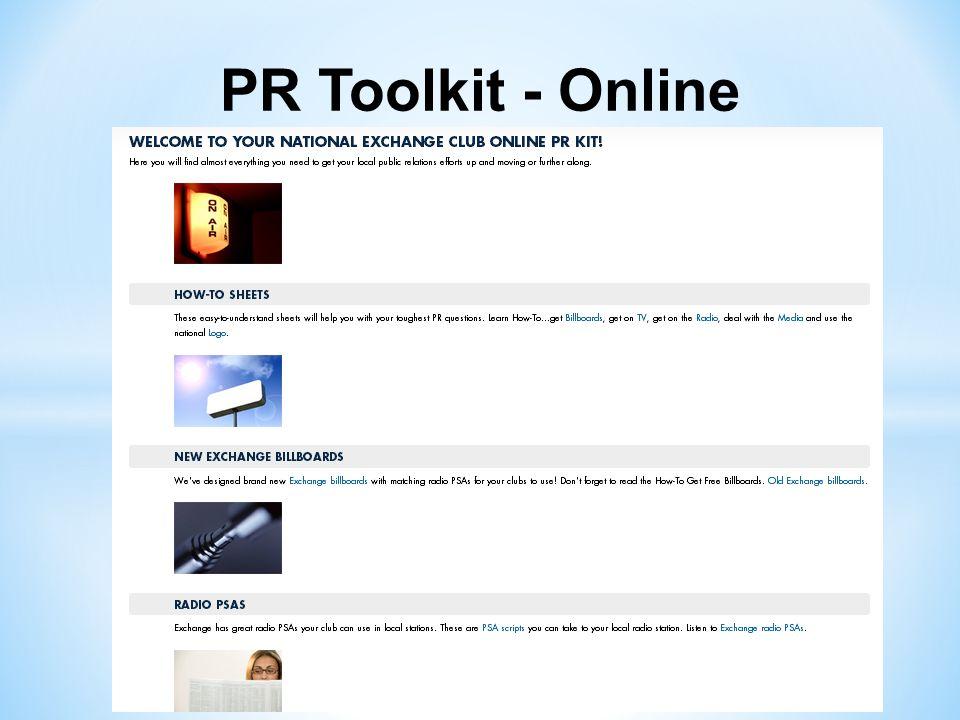 PR Toolkit - Online