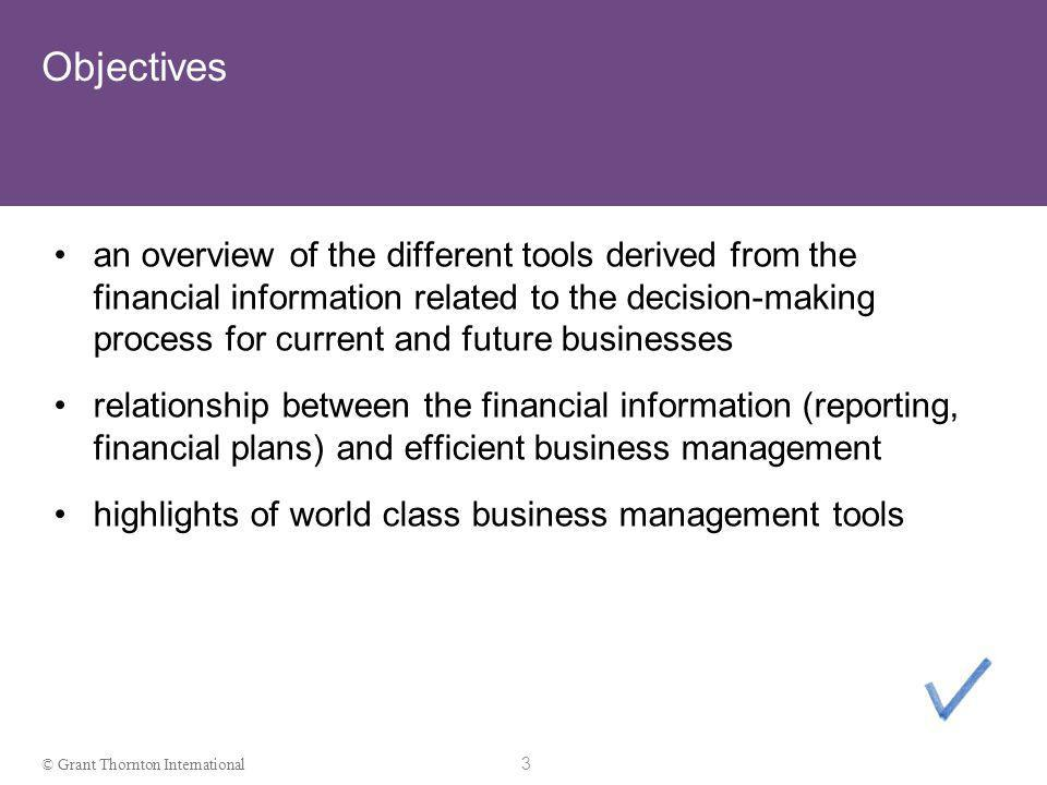 2 © Grant Thornton International Disclaimer DISCLAIMER: This presentation and its content do not constitute advice. Attendants should not act solely o