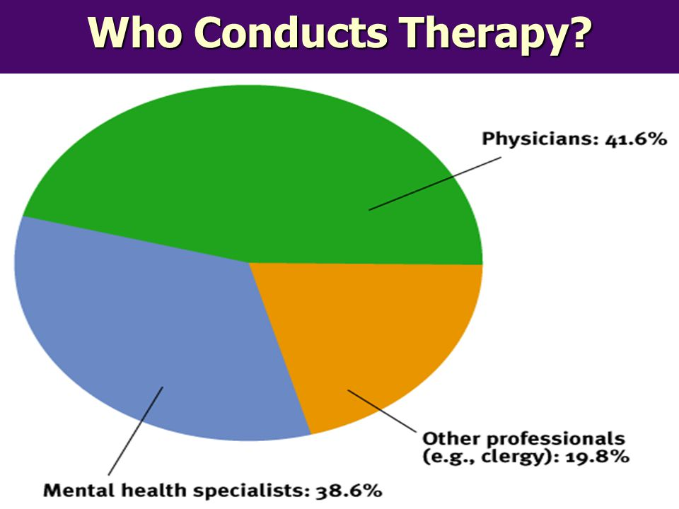 Who Conducts Therapy?