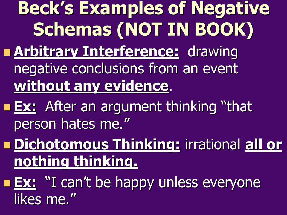 Albert Ellis's Rational Emotive Therapy (NOT IN BOOK) Albert Ellis also believed that people's maladaptive thoughts led to maladaptive emotional responses.