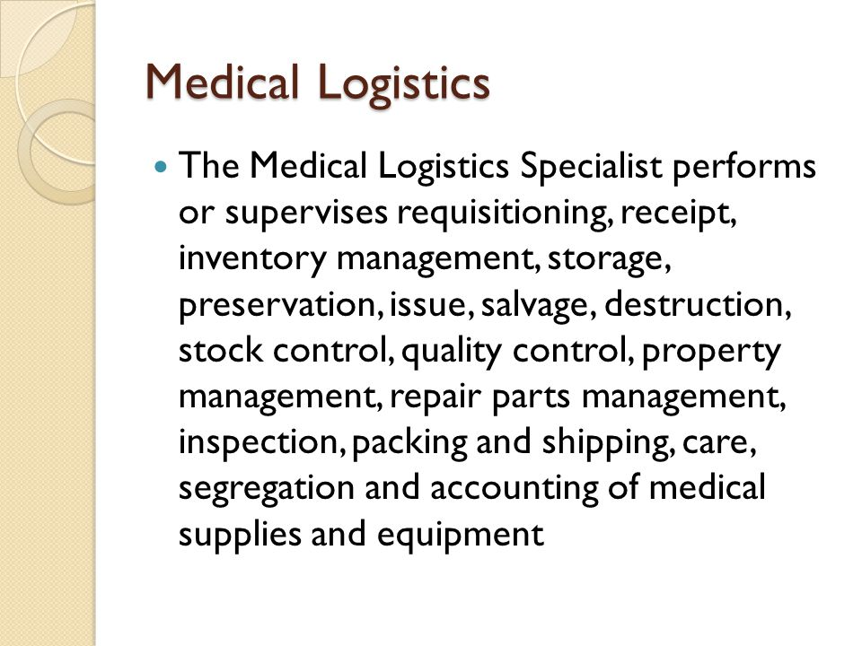 Comprehension Check 1.What are the two main types of medical supplies.