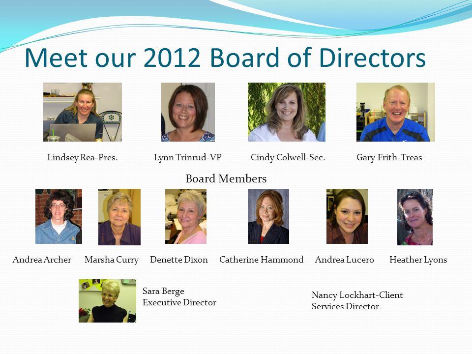 Meet our 2012 Board of Directors Lindsey Rea-Pres.