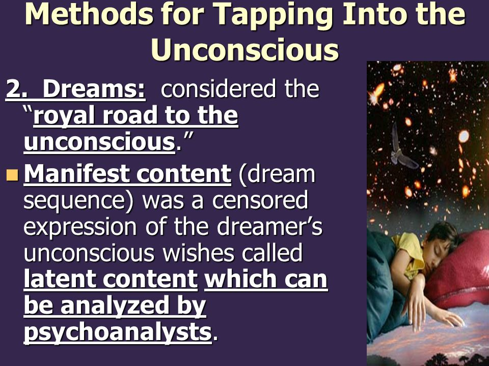 Methods for Tapping Into the Unconscious 2.