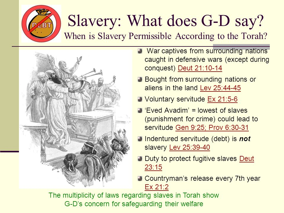 Slavery: What does G-D say.When is Slavery Permissible According to the Torah.