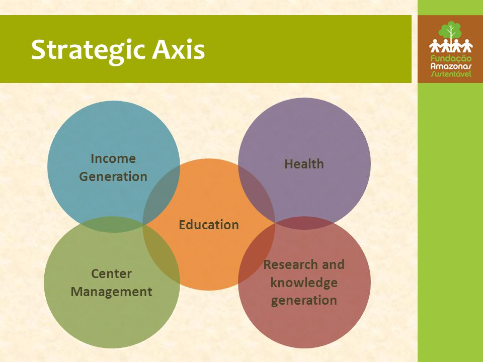 Strategic Axis Education Income Generation Health Research and knowledge generation Center Management