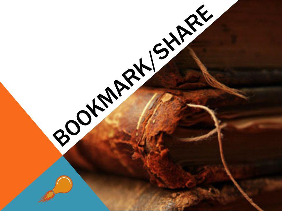 BOOKMARK/SHARE