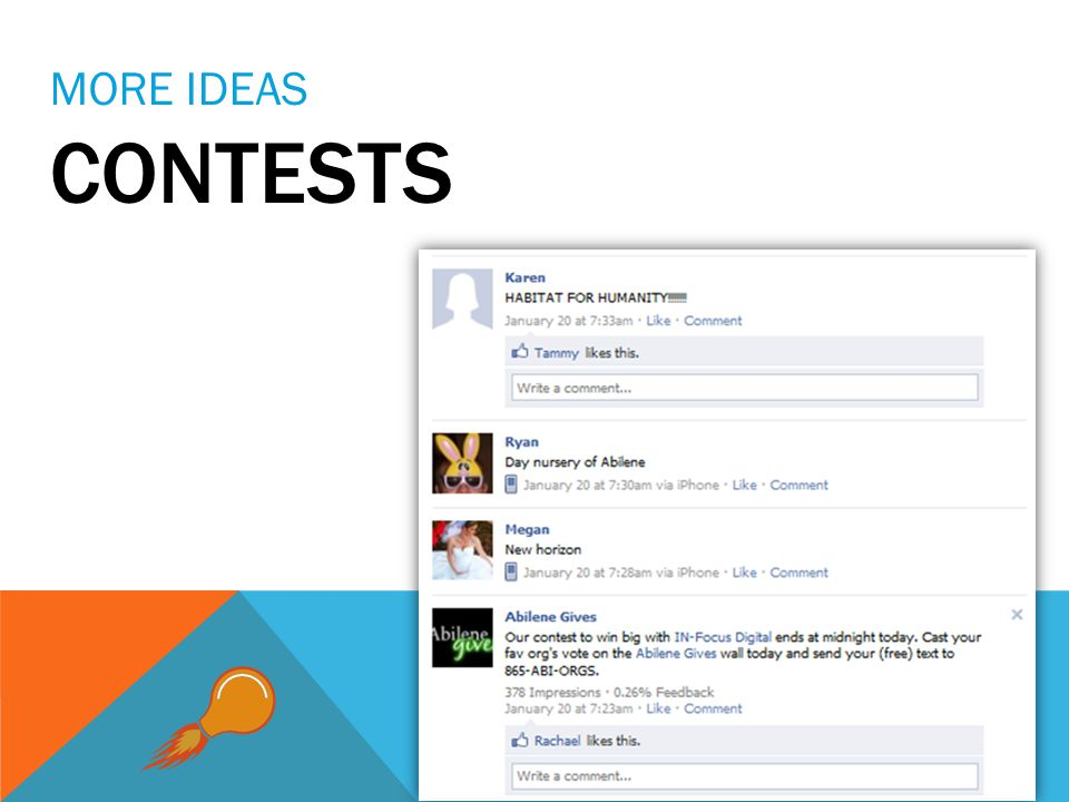 MORE IDEAS CONTESTS