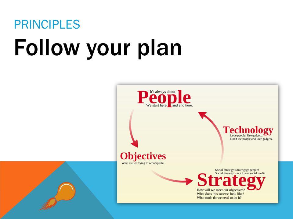 Follow your plan