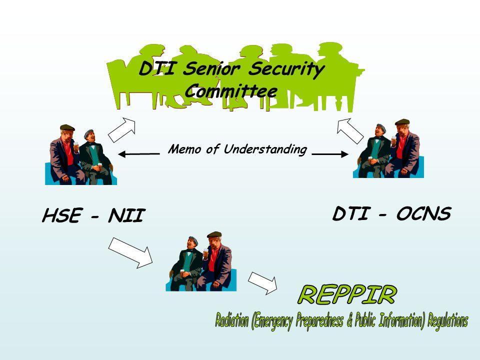 DTI Senior Security Committee HSE - NII DTI - OCNS Memo of Understanding