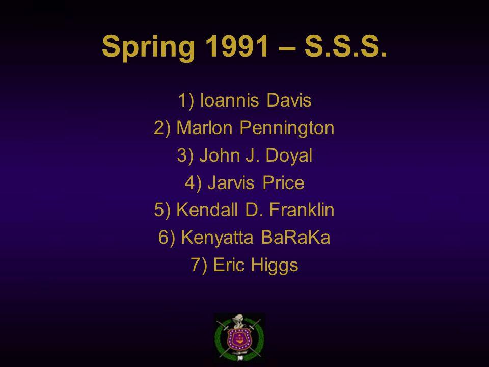 Spring 1991 – S.S.S. 1) Ioannis Davis 2) Marlon Pennington 3) John J.