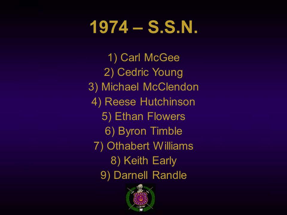 1974 – S.S.N.