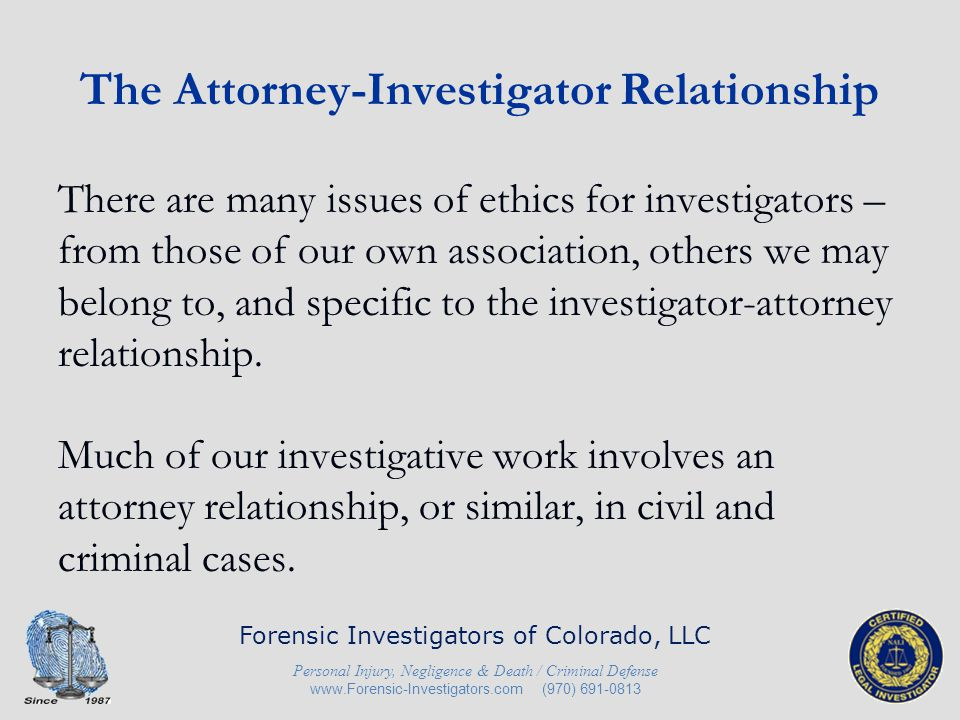 A sample scenario (civil) Litigation is ongoing – both parties are represented by attorneys.