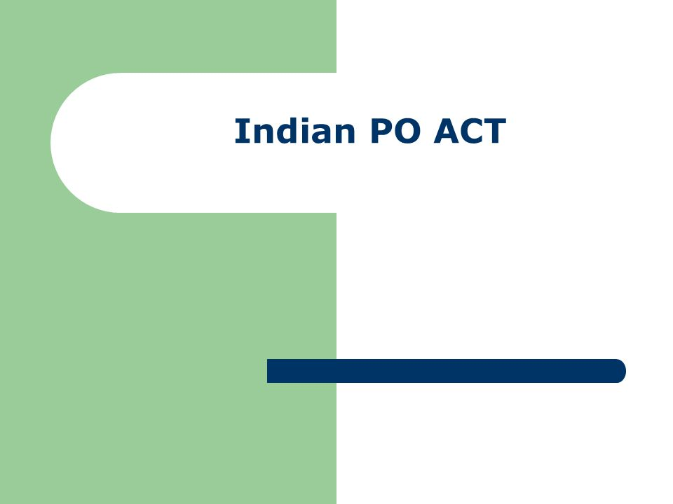 Indian PO ACT