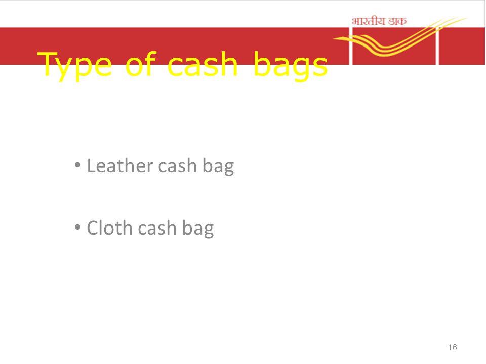 Type of cash bags Leather cash bag Cloth cash bag 16