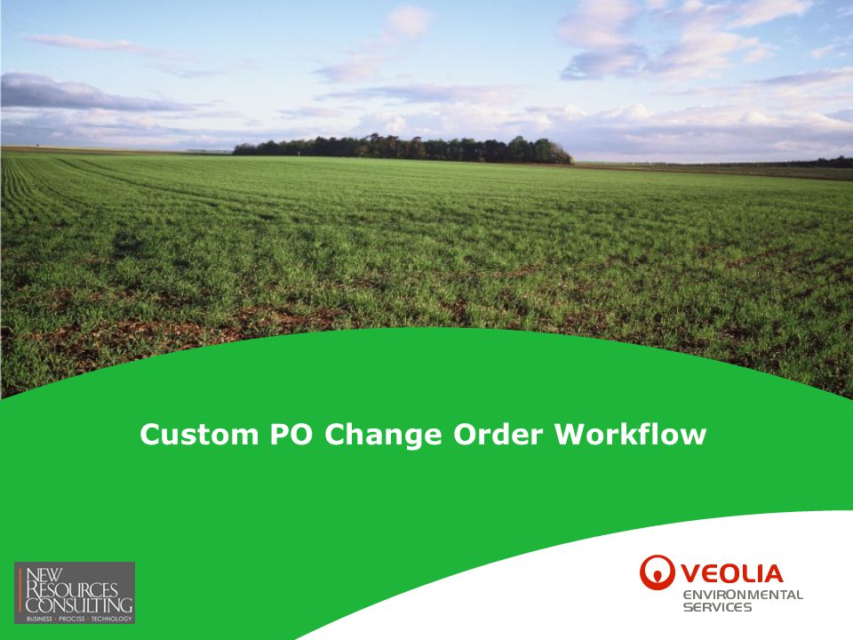 42 Custom PO Change Order Workflow– PO Change Order Template PO Change Order Template (PO_HDR) The PO Change Order Workflow utilizes the PO Change Order Template and allows the flexibility to add or remove criteria required for workflow approval.