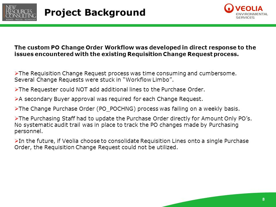 9 Requisition Change Request Process Flow – Current State 9