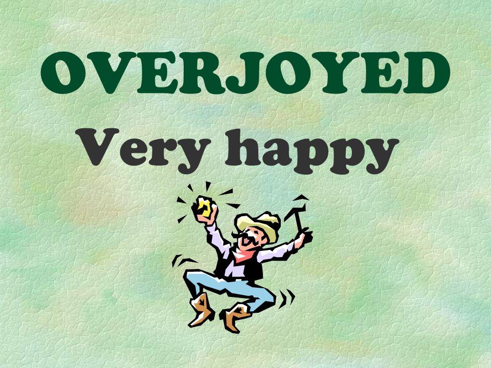 OVERJOYED Very happy