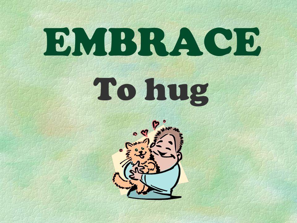 EMBRACE To hug