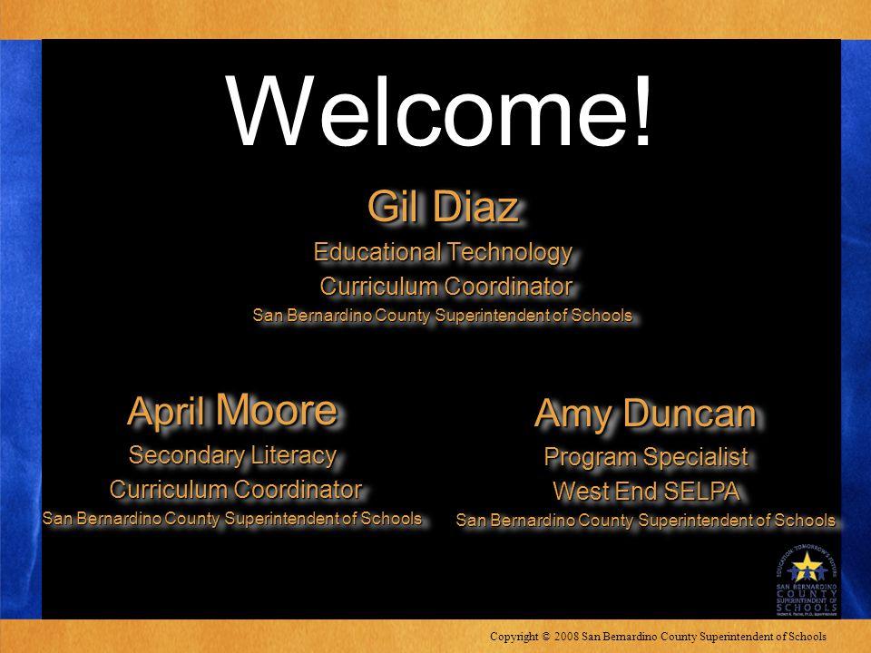 Copyright © 2008 San Bernardino County Superintendent of Schools Welcome.