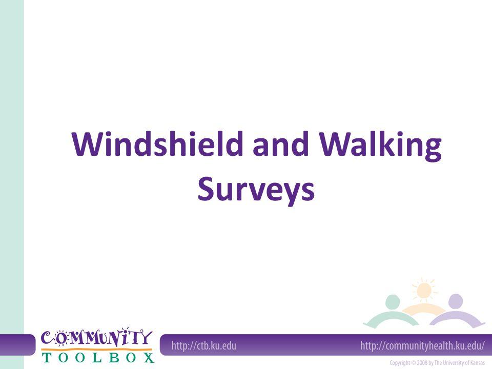 Windshield and Walking Surveys